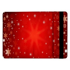 Red Holiday Background Red Abstract With Star Samsung Galaxy Tab Pro 12 2  Flip Case