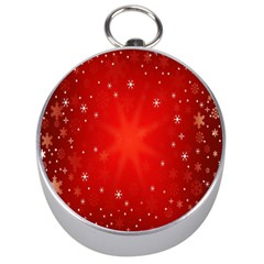 Red Holiday Background Red Abstract With Star Silver Compasses