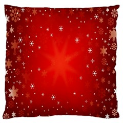 Red Holiday Background Red Abstract With Star Large Flano Cushion Case (Two Sides)