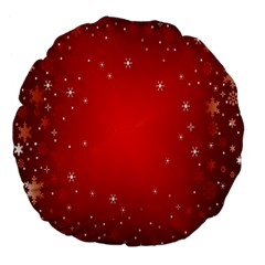 Red Holiday Background Red Abstract With Star Large 18  Premium Flano Round Cushions
