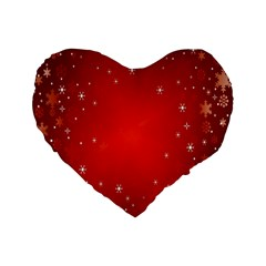 Red Holiday Background Red Abstract With Star Standard 16  Premium Flano Heart Shape Cushions