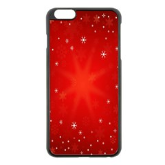 Red Holiday Background Red Abstract With Star Apple Iphone 6 Plus/6s Plus Black Enamel Case