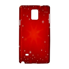 Red Holiday Background Red Abstract With Star Samsung Galaxy Note 4 Hardshell Case