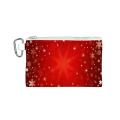 Red Holiday Background Red Abstract With Star Canvas Cosmetic Bag (s)