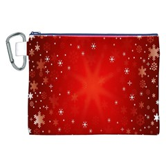 Red Holiday Background Red Abstract With Star Canvas Cosmetic Bag (xxl)