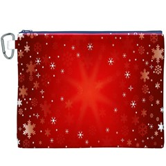 Red Holiday Background Red Abstract With Star Canvas Cosmetic Bag (XXXL)