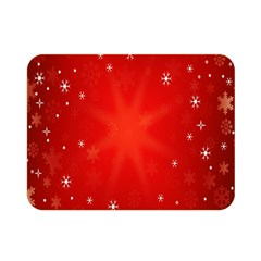 Red Holiday Background Red Abstract With Star Double Sided Flano Blanket (mini)