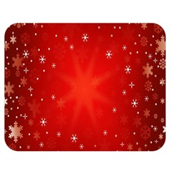 Red Holiday Background Red Abstract With Star Double Sided Flano Blanket (medium)