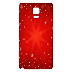 Red Holiday Background Red Abstract With Star Galaxy Note 4 Back Case