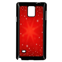 Red Holiday Background Red Abstract With Star Samsung Galaxy Note 4 Case (black)