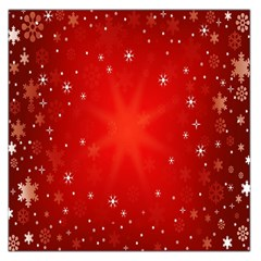 Red Holiday Background Red Abstract With Star Large Satin Scarf (Square)