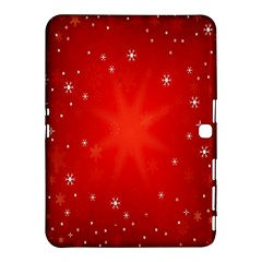 Red Holiday Background Red Abstract With Star Samsung Galaxy Tab 4 (10 1 ) Hardshell Case