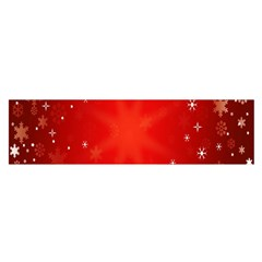 Red Holiday Background Red Abstract With Star Satin Scarf (Oblong)