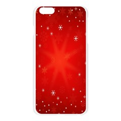 Red Holiday Background Red Abstract With Star Apple Seamless iPhone 6 Plus/6S Plus Case (Transparent)