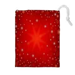 Red Holiday Background Red Abstract With Star Drawstring Pouches (Extra Large)