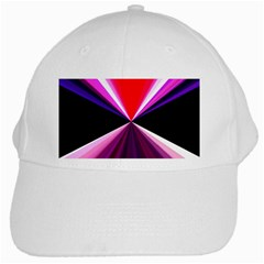 Red And Purple Triangles Abstract Pattern Background White Cap