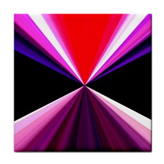 Red And Purple Triangles Abstract Pattern Background Tile Coasters