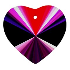 Red And Purple Triangles Abstract Pattern Background Ornament (heart)