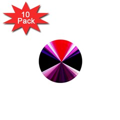 Red And Purple Triangles Abstract Pattern Background 1  Mini Magnet (10 Pack)