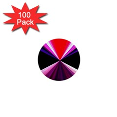 Red And Purple Triangles Abstract Pattern Background 1  Mini Buttons (100 Pack)