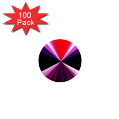 Red And Purple Triangles Abstract Pattern Background 1  Mini Magnets (100 Pack)