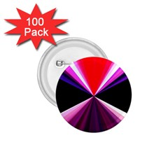 Red And Purple Triangles Abstract Pattern Background 1 75  Buttons (100 Pack)