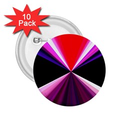 Red And Purple Triangles Abstract Pattern Background 2 25  Buttons (10 Pack)