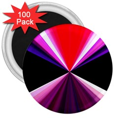 Red And Purple Triangles Abstract Pattern Background 3  Magnets (100 Pack)