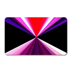 Red And Purple Triangles Abstract Pattern Background Magnet (Rectangular)