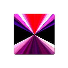 Red And Purple Triangles Abstract Pattern Background Square Magnet