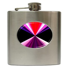 Red And Purple Triangles Abstract Pattern Background Hip Flask (6 oz)