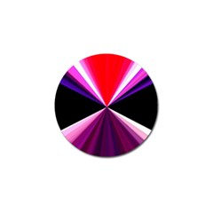 Red And Purple Triangles Abstract Pattern Background Golf Ball Marker (4 Pack)