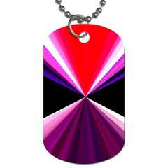 Red And Purple Triangles Abstract Pattern Background Dog Tag (Two Sides)