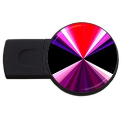 Red And Purple Triangles Abstract Pattern Background USB Flash Drive Round (2 GB)