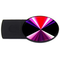 Red And Purple Triangles Abstract Pattern Background USB Flash Drive Oval (2 GB)