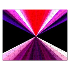 Red And Purple Triangles Abstract Pattern Background Rectangular Jigsaw Puzzl