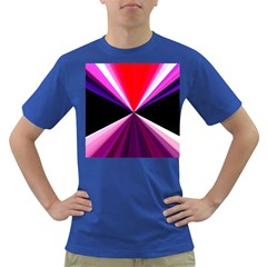 Red And Purple Triangles Abstract Pattern Background Dark T Shirt