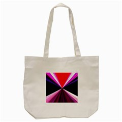 Red And Purple Triangles Abstract Pattern Background Tote Bag (Cream)