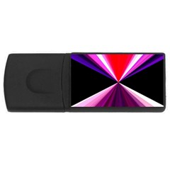 Red And Purple Triangles Abstract Pattern Background USB Flash Drive Rectangular (4 GB)