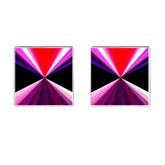 Red And Purple Triangles Abstract Pattern Background Cufflinks (Square)