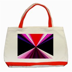Red And Purple Triangles Abstract Pattern Background Classic Tote Bag (red)
