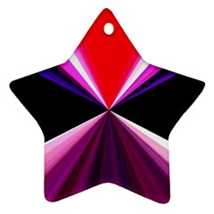 Red And Purple Triangles Abstract Pattern Background Star Ornament (Two Sides)