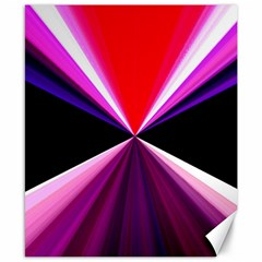 Red And Purple Triangles Abstract Pattern Background Canvas 8  x 10