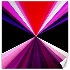 Red And Purple Triangles Abstract Pattern Background Canvas 16  X 16
