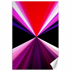 Red And Purple Triangles Abstract Pattern Background Canvas 20  X 30