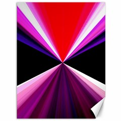 Red And Purple Triangles Abstract Pattern Background Canvas 36  x 48