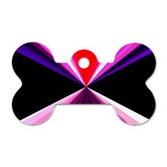 Red And Purple Triangles Abstract Pattern Background Dog Tag Bone (Two Sides)