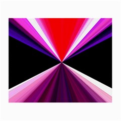 Red And Purple Triangles Abstract Pattern Background Small Glasses Cloth (2 Side)