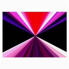 Red And Purple Triangles Abstract Pattern Background Large Glasses Cloth