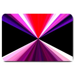 Red And Purple Triangles Abstract Pattern Background Large Doormat